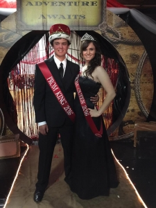 1619 HC Amber Huff La Veta prom king and queen