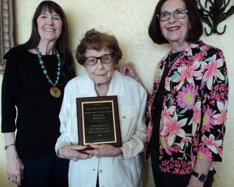 Elaine lenzini honored