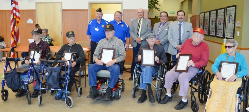 1620 HC Commissioners honor WW II veterans