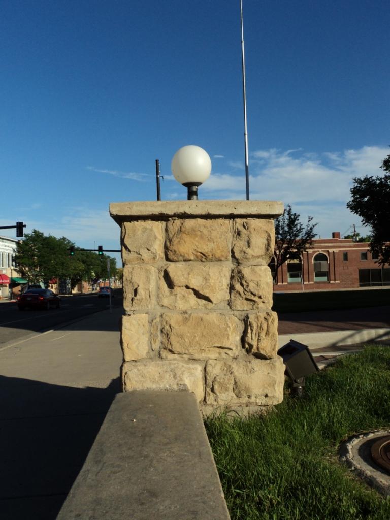 1625 HC Newman History Detective sandstone pillar