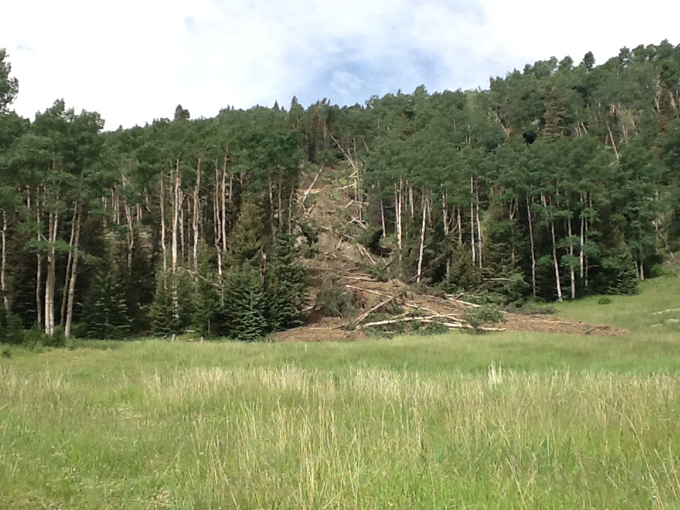 A landslide last year cut off the main road to Lily Lake hiking trails. Courtesy photo