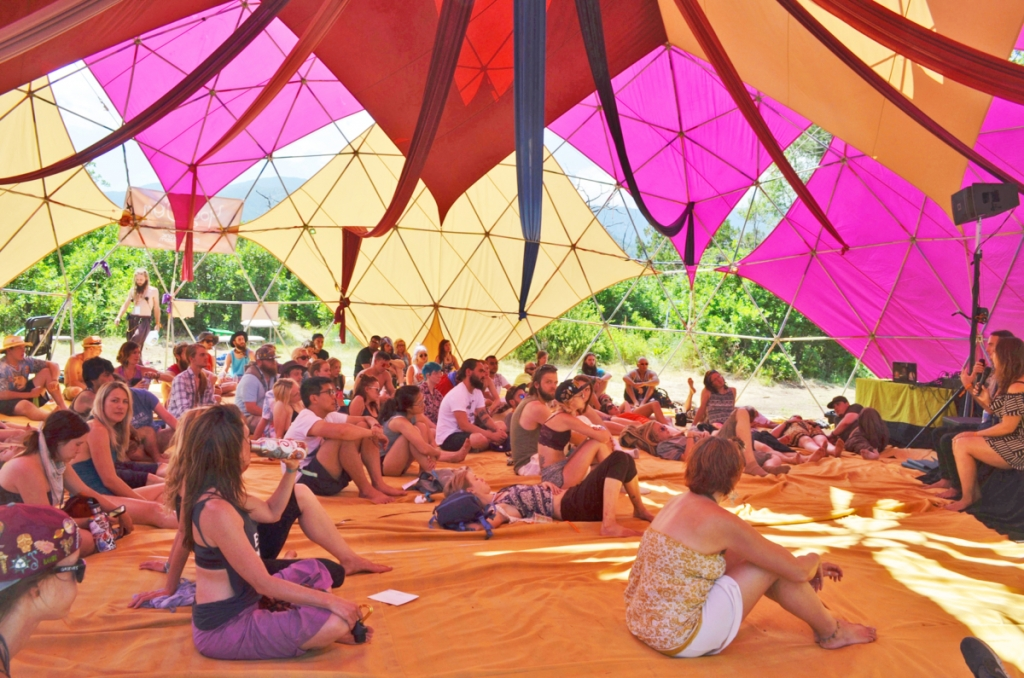 The Yoga D'Om  was a popular place to hang out.    Photos by Brian Orr