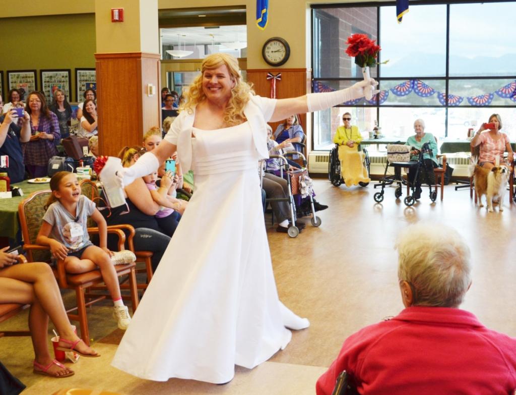 blushing bride Todd Oberheu