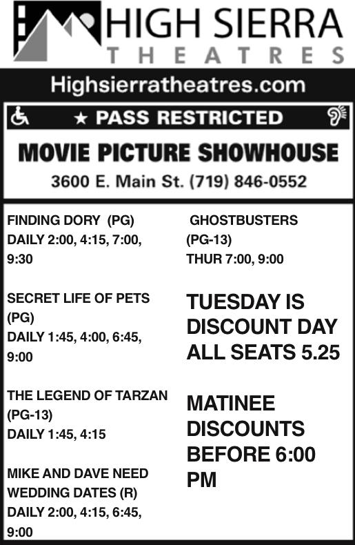 High Sierra movie theatres