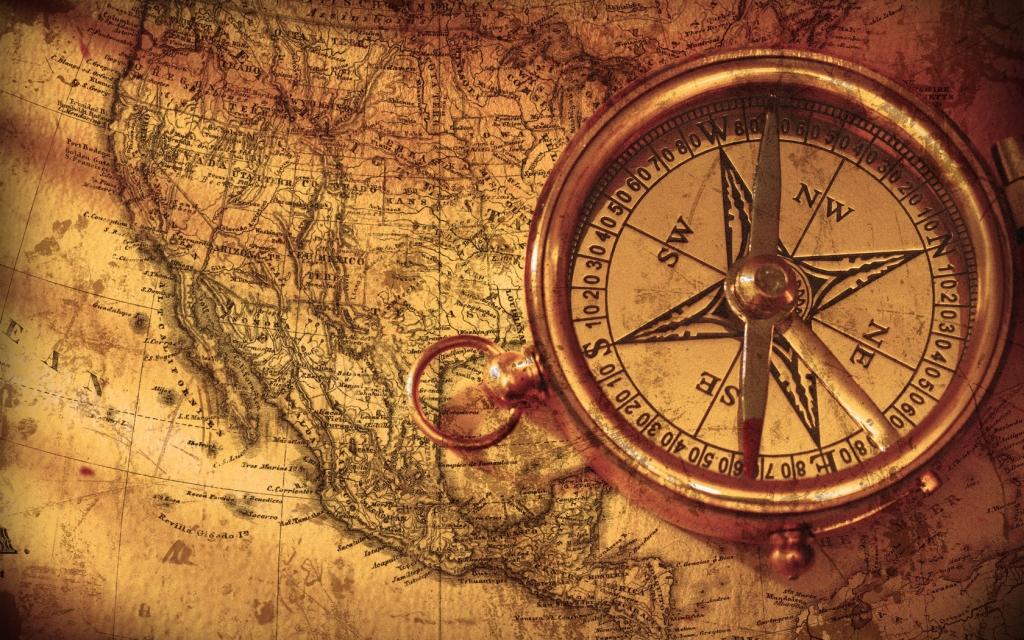 regional history compass map