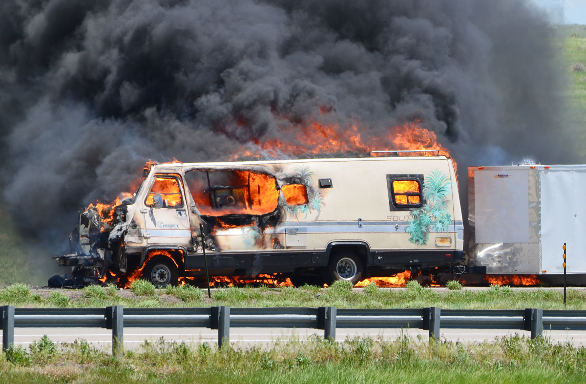 Roadside Repair Believed Cause Of Rv Fire May 25 The