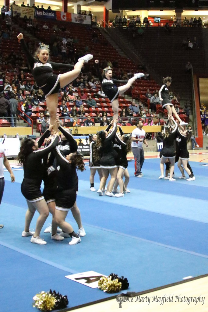 state spirit competition within a point for raton cheer feisty young tiger cats comes in sixth