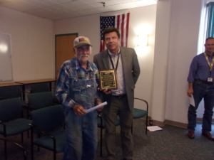 Tom Hay recognized by Regional Mine Worker Organizations