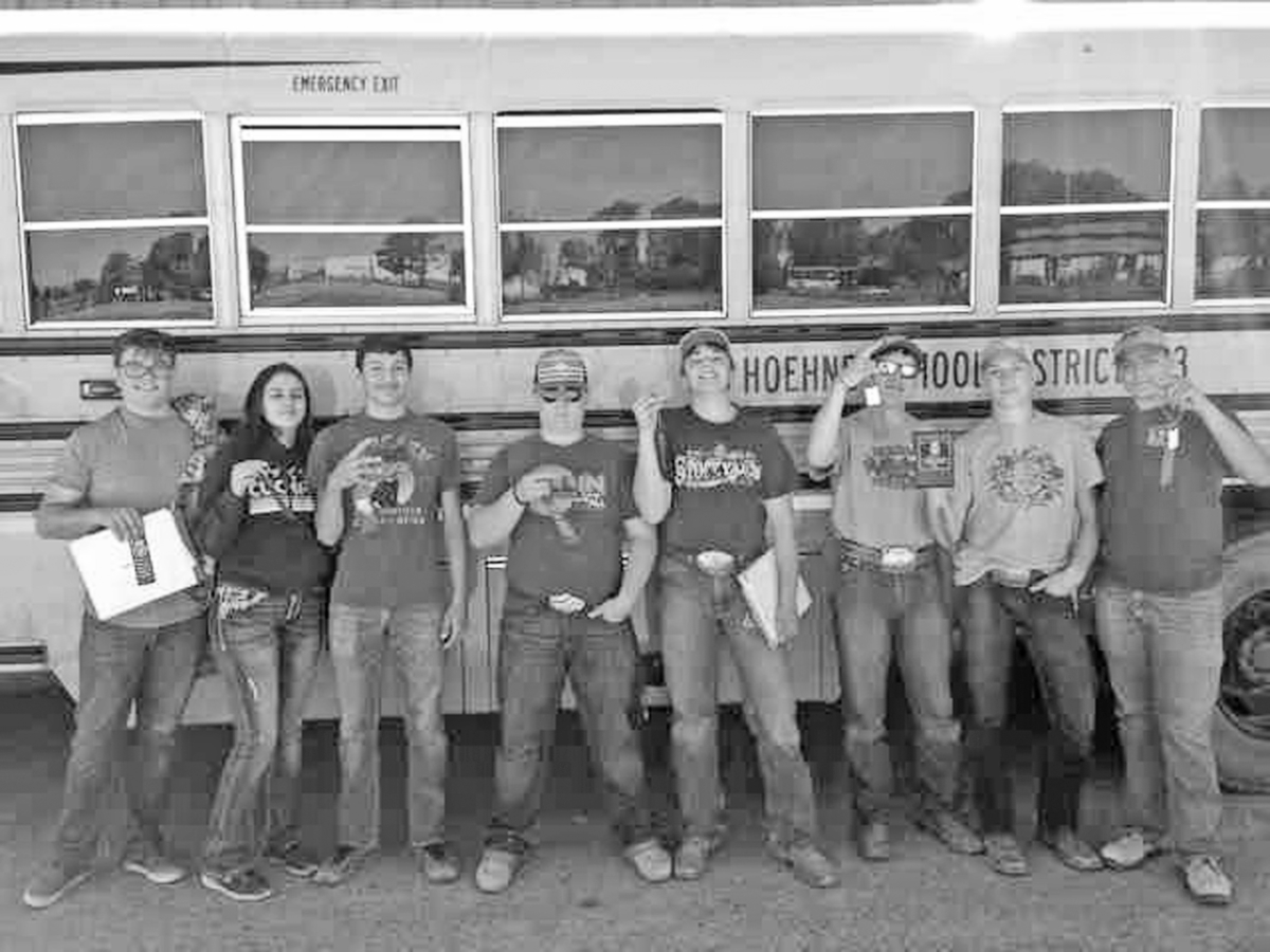Hoehne FFA competes at Regional Range competition see article page 7